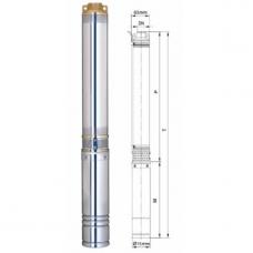 Насос для скважины Aquatica 0.75 кВт h=44 м (777151) Dongyin