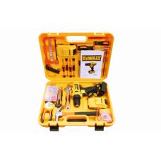 Шуруповерт Ударный аккумуляторный DeWALT DCD791 (24V, 6AH) с большим набором инструментов (82 ед.) Девольт