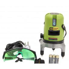 Лазерний рівень Procraft LE-5D (зелений промінь)
