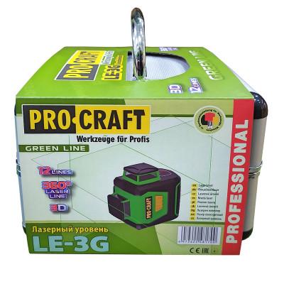 Лазерный нивелир (3D лазерный нивелир, 12 зеленых линий, 360º) Procraft LE 3G